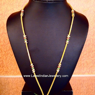 Thali Chains with swarovski Mogappu
