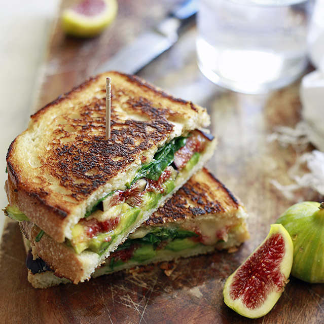 Fresh Fig and Avocado Grilled Cheese
