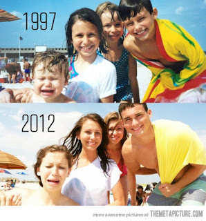 nostalgic family photo recreate