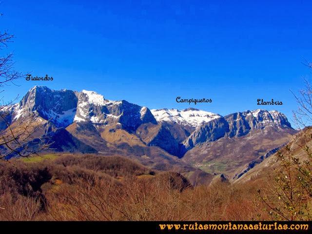 Ruta al Pico Pierzu: Vista del Tiatordos, Campigueños y la Llambria