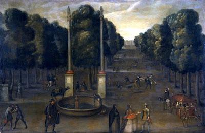 Vista de la Alameda de Hércules (1647) - Anónimo - Hispanic Society (Nueva York)