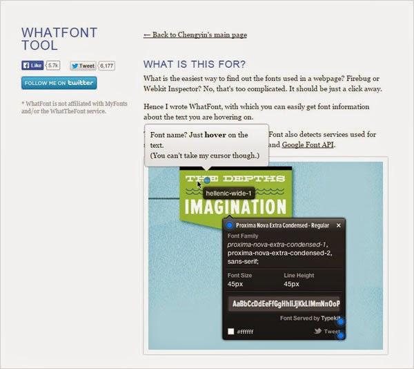 Tools Web Design Professional WhatFont