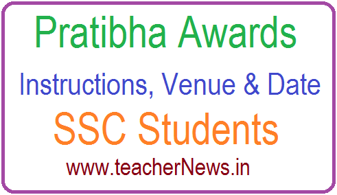 RC 417 Revised instructions on Pratibha Awards 2019 Presentation Venue (Place & Date)
