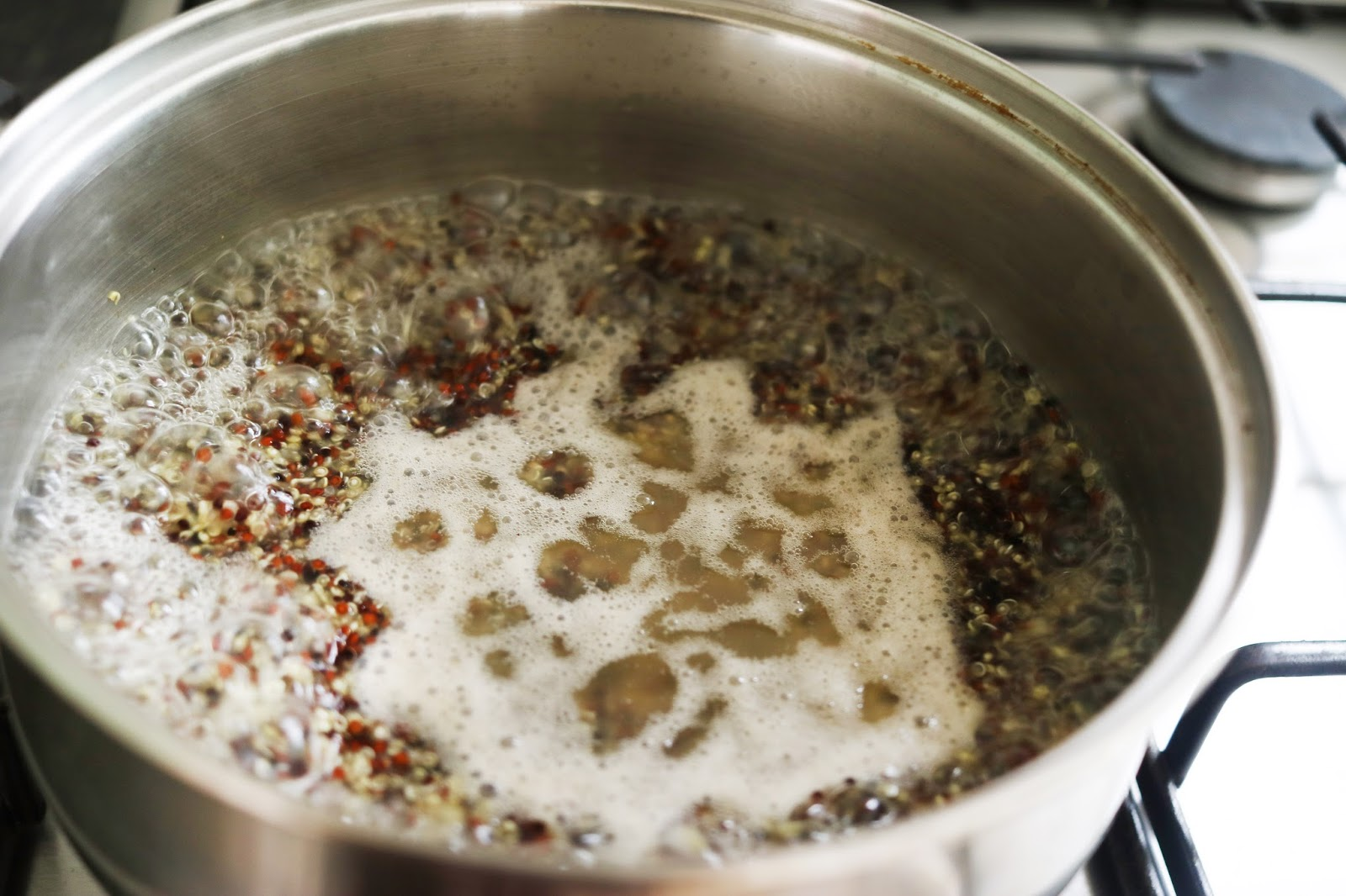 Step 3 Add In The Quinoa And Bring To The Boil Again Stir Often To  Prevent Sticking