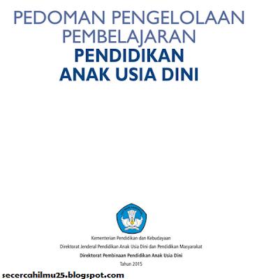 Dokumen Pedoman Pengelolaan Pembelajaran PAUD