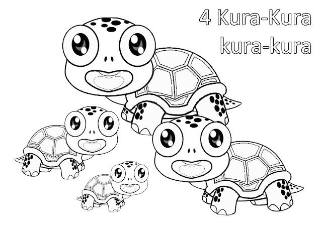 gambar mewarnai kura-kura