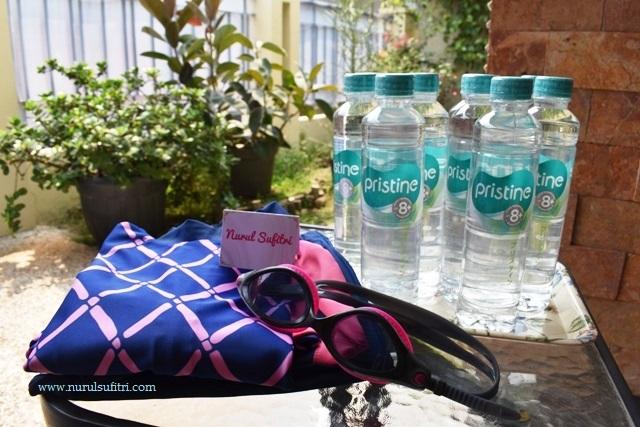 berenang dan minum pristine 8 membantu memulihkan kesehatan tubuh live balance nurul sufitri blogger perempuan