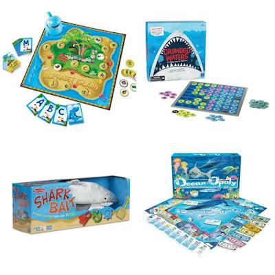 Shark board games for kids.