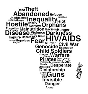 Graphic desing of Africa's problems