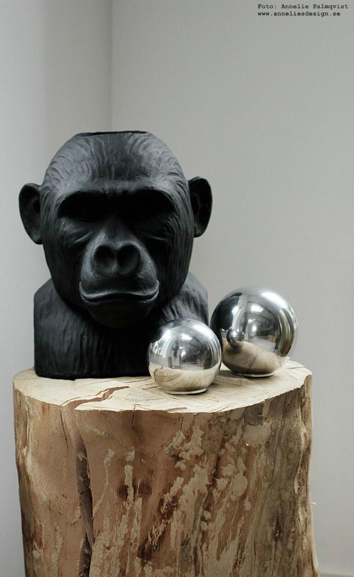 skål, skålar, med lock, aluminium, gorilla, vas, vaser, inredning, dekoration, annelies design, webbutik, webbutiker,