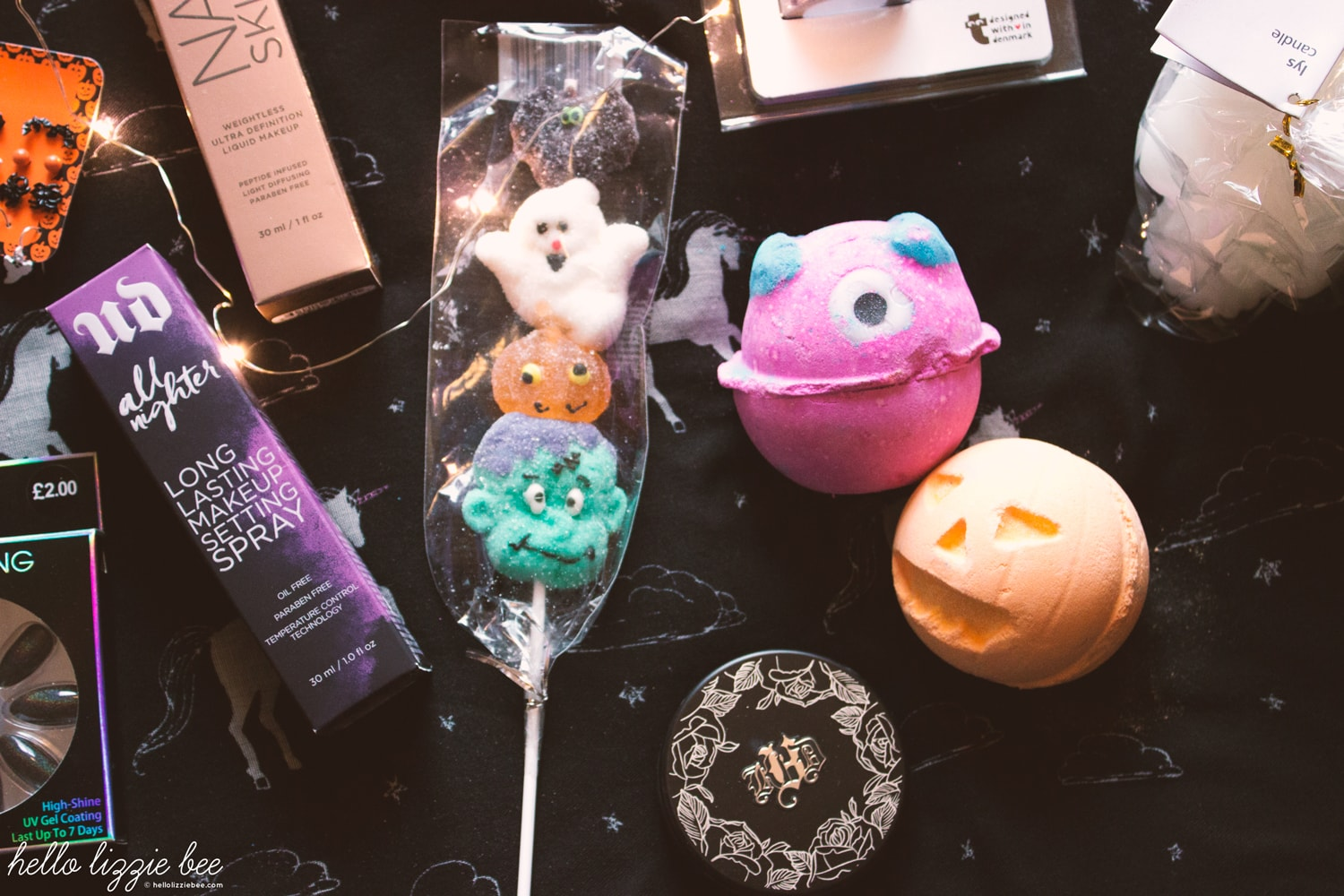 halloween treats, sweets, bath bombs