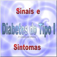 Ilustração mostrando um texto falando dos Sinais e Sintomas do Diabetes do Tipo I