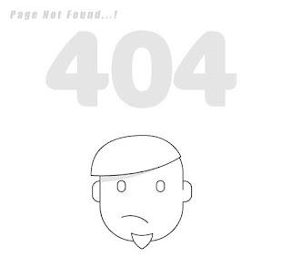 Custom 404 error page for blogger 1