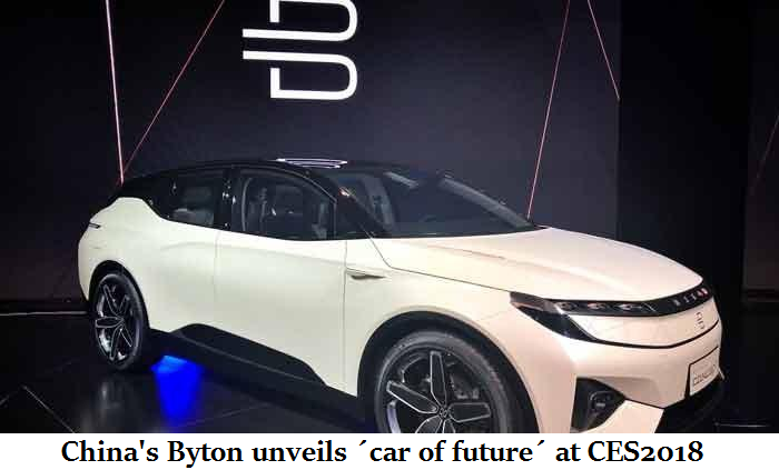China's Byton unveils ´car of future´ at CES2018