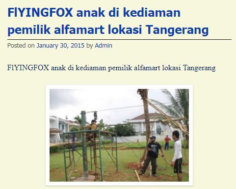 JASA FLYINGFOX DI TANGERANG