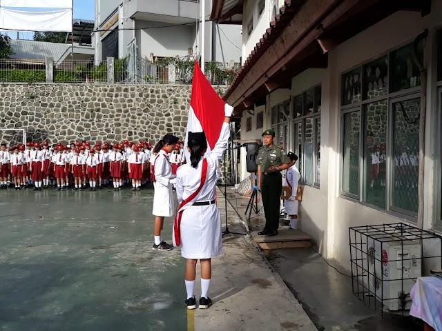 Dandim 0508/Depok Jadi Pembina Upacara di SMP Santa Theresia