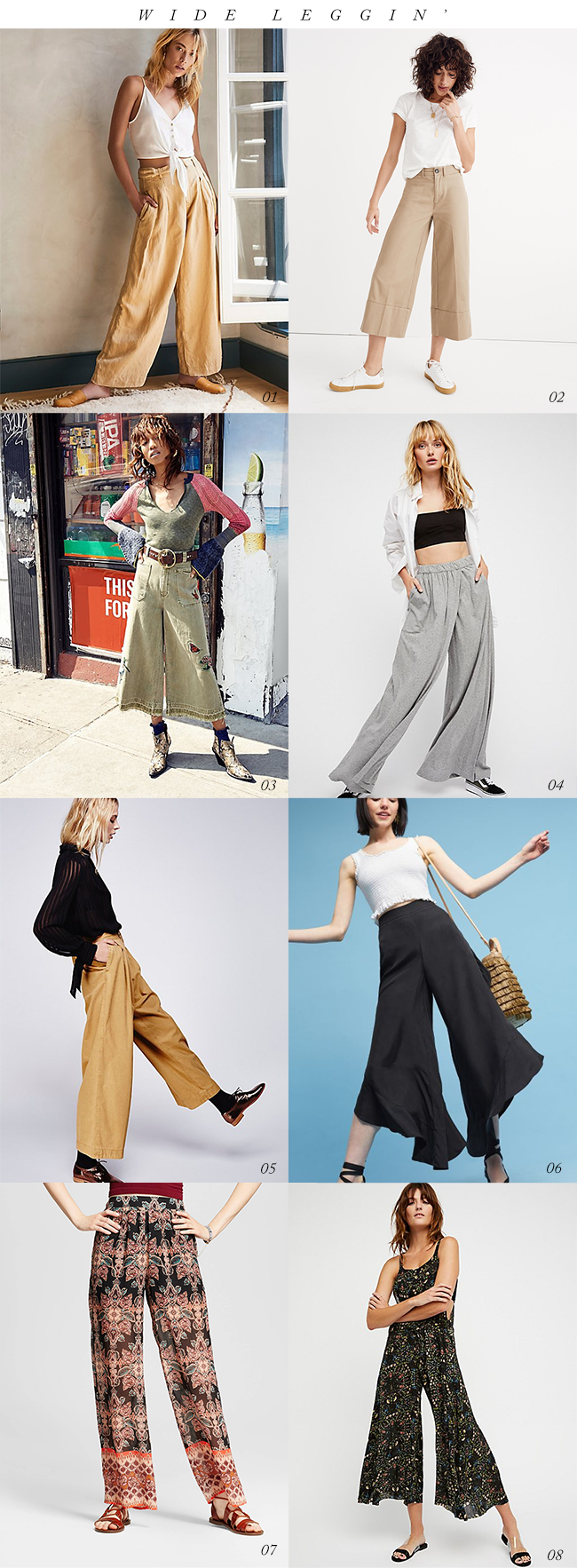8 Wide Legged Pants for Fall