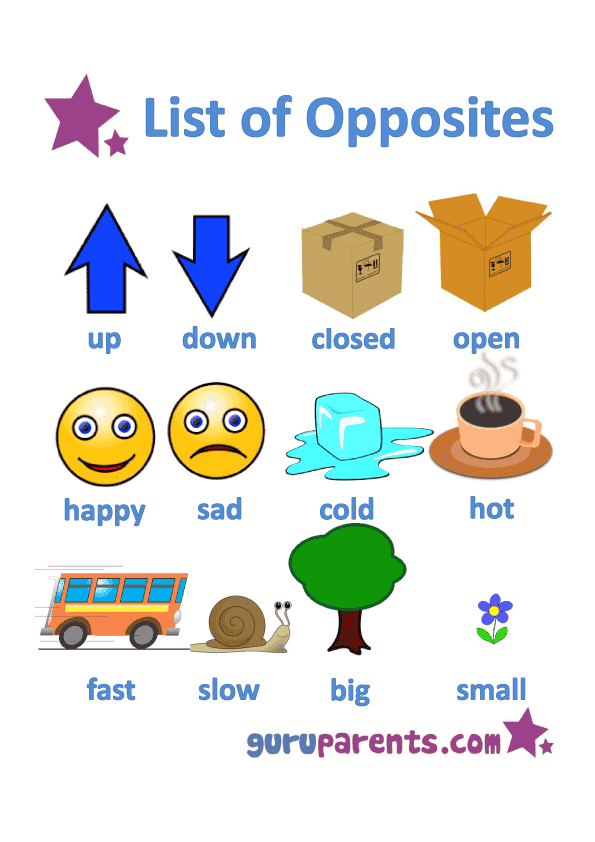 Joyful English For Kids: We can learn opposite words with