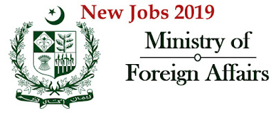Ministry of Foreign Affairs Latest Jobs 2019 at Islamabad