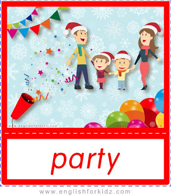 Party, Christmas flashcards