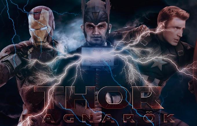 Thor Ragnarok movie poster designing in Photoshop CC 2017