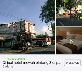 Hotel dijual dijalan Utama Kuta Bali