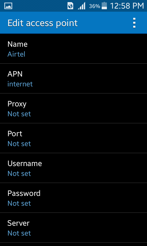 MANUAL INTERNET SETTINGS FOR NETWORKS IN GHANA for noobs