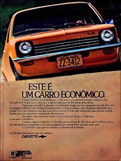 propaganda  Chevette - 1973, Chevette 73, GM anos 70, Chevrolet década de 70, carros Chevrolet anos 70, Oswaldo Hernandez,