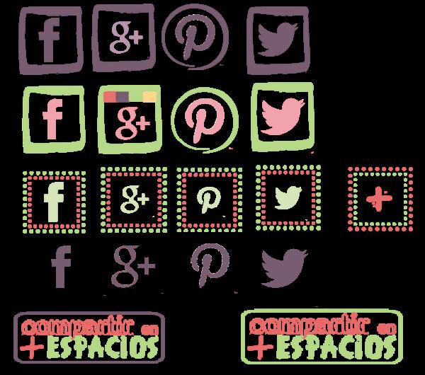 iconos de redes sociales para tu blog