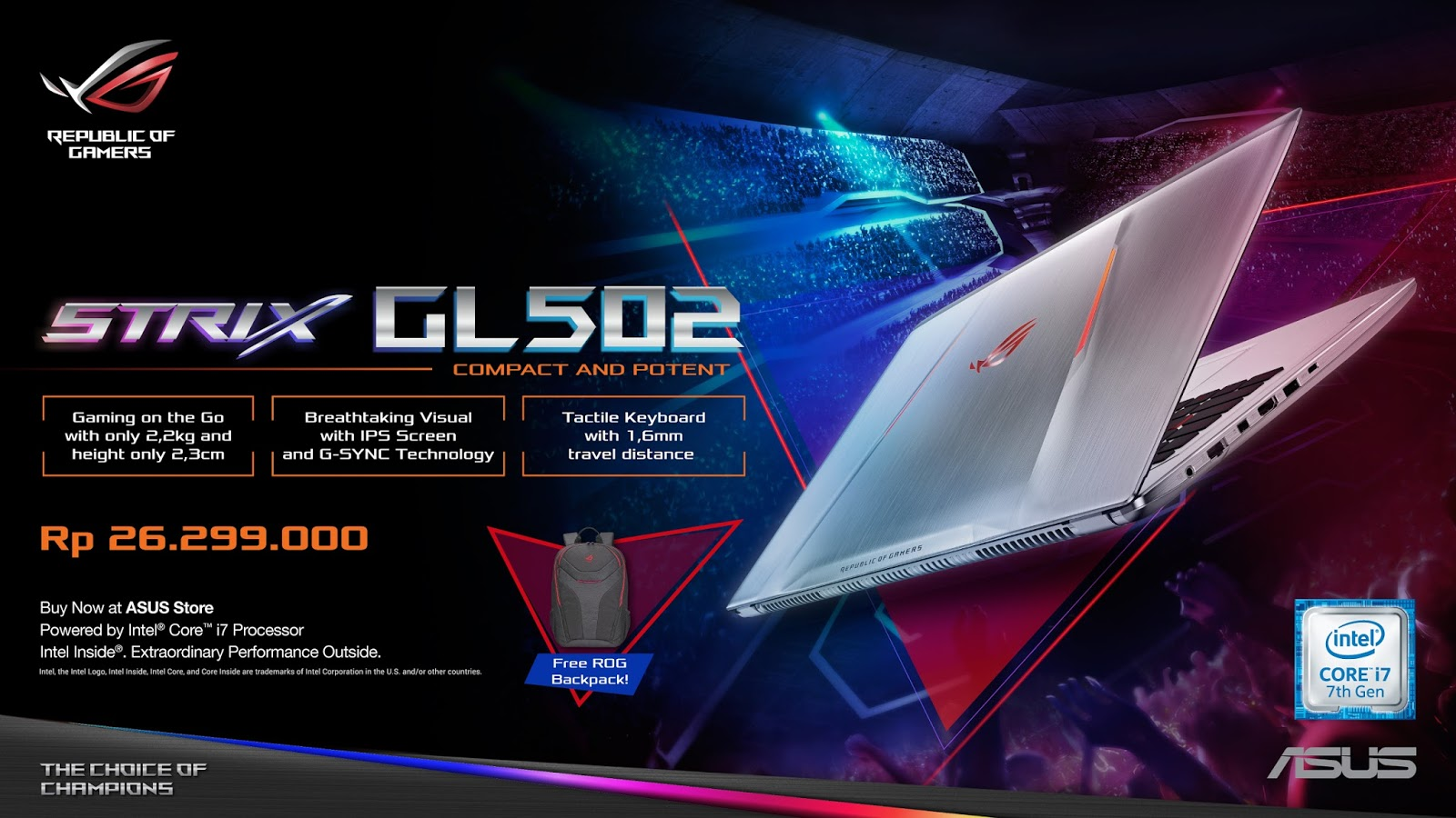 ASUS ROG STRIX GL502VM - Republic of Gamers