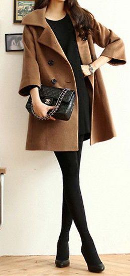fall office style obsession : coat + dress + heels + bag