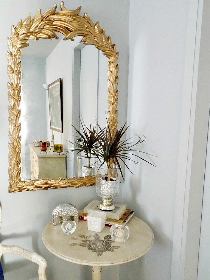 Gold antique mirror