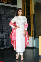 Mannara Chopra in Silky White Salwar Suit with Pink Chunni Latest Exclusive Pics March 2017 ~  051.JPG