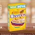Cheerios da Nestlé feito com 4 cereais integrais e toque puro de mel