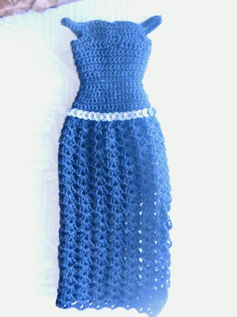 Vestidos preto de Crochê Para Barbie  Por Pecunia MillioM