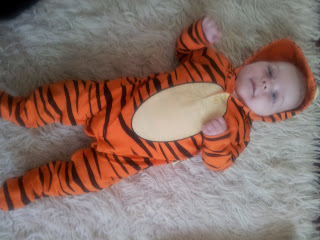 baby tigger suit, tigger sleepsuit, baby fancy dress