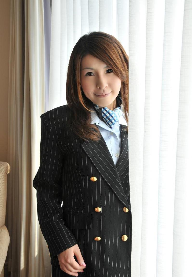 Stewardess costume: Risa Uchida 内田理沙 ~ World stewardess Crews