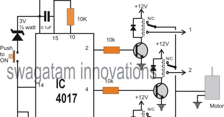 single push 10 step selector switch circuit circuit diagram centre