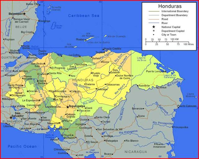 Gambar Peta Honduras