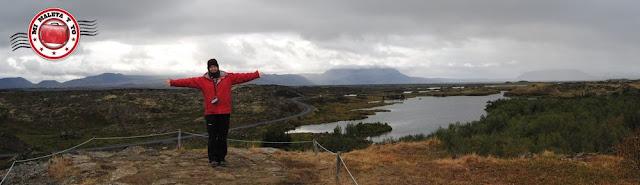Panorámica de Dimmuborgir desde Höfði, Islandia