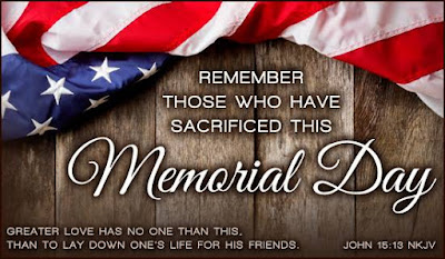 Happy Memorial Day 2016: remember those who have sacrifice this