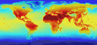 NASA forecasts of how global temperatures might change.