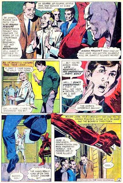 Strange Adventures v1 #213 dc 1960s silver age comic book page art by Neal Adams
