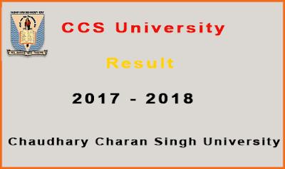 ccs university result 2018 - ccsu meerut
