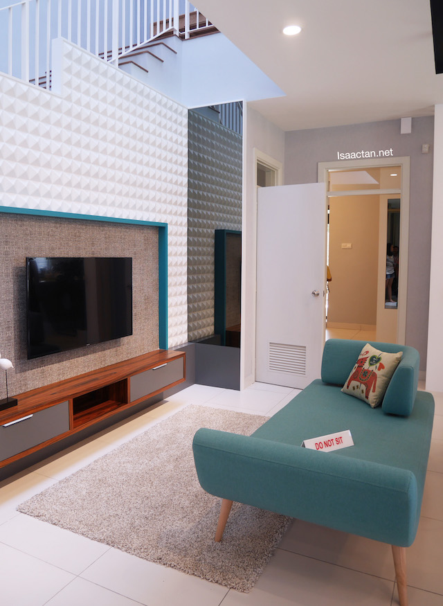 A secondary living space downstairs