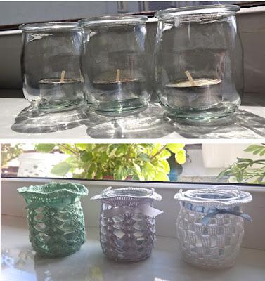 Lampiony ze słoiczków / Lampions from jars
