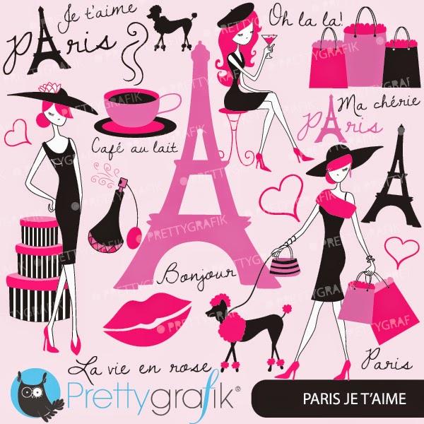 París Sexy: Kit Gratis de Scrapbook.   Oh My Fiesta para Chicas!