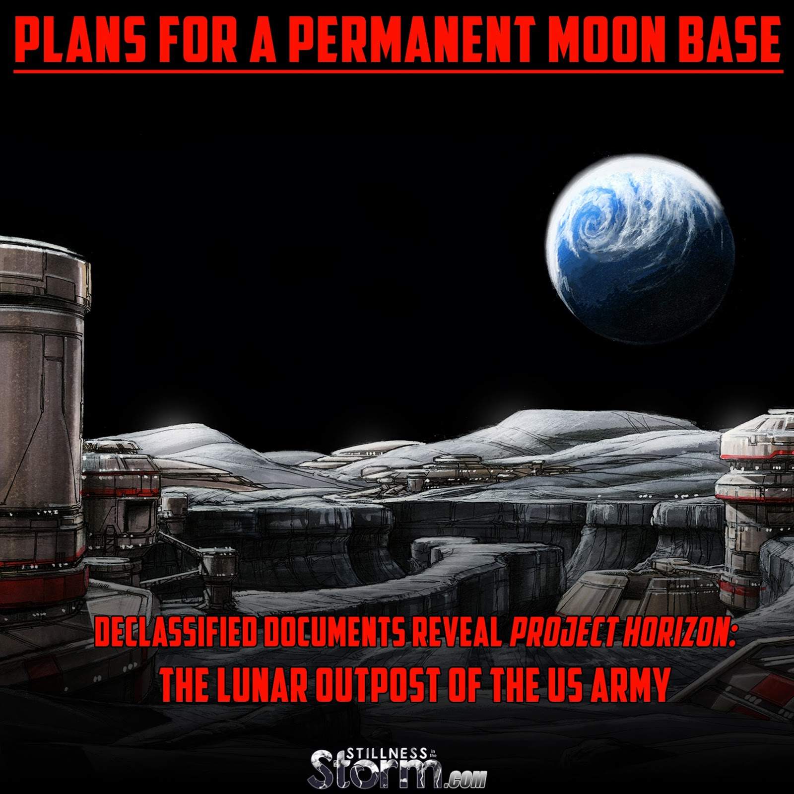 Plans for a Permanent Moon Base Declassified Documents