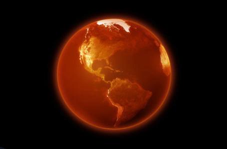 """Cette image montre en son centre une sphere de couleur orange tirant sur le rouge. Cette boule coloree presente un contour plus clair et plus brillant qui forme un cercle lumineux qui ressort sur le fond completement noir de l'image. On remarque facilement que la surface de la sphere n'est pas completement lisse et unie mais presente a sa surface des lignes torturees qui forment autant de dessins, dessins que l'on identfie facilement comme representant le continent americain qui apparait au centre de la sphere. Sur ses bords, tout en haut et sur la gauche, on distingue egalement d'autres surfaces de ce que l'on imagine d'autres continents. Le spectateur comprend aisement que cette sphere d'un orange vif représente la planète Terre. Cette image accompagne encore une fois tout a fait a propos le poeme du Marginal Magnifique """"L'Orange sanguine"""" dans lequel le poete exprime en une lucidite melancolique la durete de la vie sur la planete pour l'individu sensible et pensant. Pour ce faire il prend a contrepied le celebre vers du poete surrealiste Paul Eluard """"La terre est bleue comme une orange"""" qu'il detourne en """"La terre est rouge comme orange sanguine"""". La couleur orange incandescent de la planete a l'image assimile la terre a une zone de tous les dangers, prete a exploser, et le fait qu'elle se trouve sur un fond noir uni confere une impression d'isolement infini. L'etre humain apparaît de ce fait totalement seul, livre a lui-meme, sur une planete quasiment radioactive par ses menaces. Les vers du Marginal Magnifique dresse en quinze vers ciselés un constat de la souffrance existentielle que ressent inévitablement l'etre humain perdu dans cette immensite qui ne revet absolument aucun sens. Encore un immense poeme du Marginal Magnifique qui fera date!!!"""