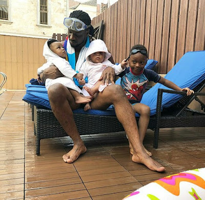 Photos: Singer Paul Okoye plays the doting dad as he hangs out with his three children